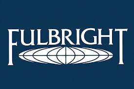 Fulbright Logo on navy